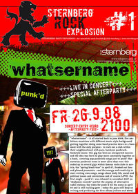 Sternberg Rock Explosion1: Whatsername live!@Club Sternberg