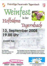 Weinfest - FF Tegernbach@Hofbühne Tegernbach
