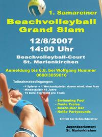 Beachvolleyball Grand Slam Samarein@Beachvolleyball-Court