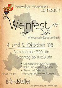 Weinfest der Feuerwehr Lambach@Feuerwehrhaus