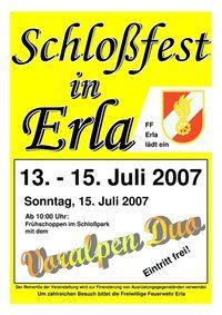 Schloßfest Erla@Schloßpark in Erla