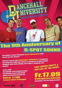 Dancehall University: G-spot 9th Anniversary@Volksgarten Banane