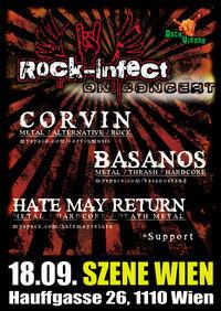 Live: Corvin / Basanos / Hate May Return@Szene Wien