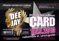 Membercard Clubbing@Rudner Event Halle
