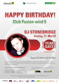 Club Fusion 5 Years - 5 Dates@Babenberger Passage