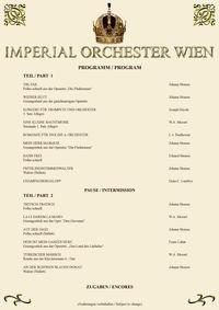 Mozart & Strauss Konzert@Imperial Saal Wien