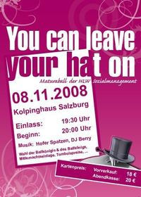 You can leave your hat on - Maturaball der  HLW