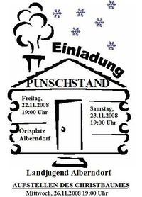 Punschstand Alberndorf@Ortsplatz