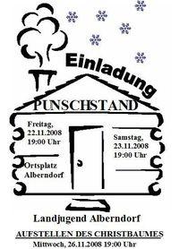 Christbaum aufstellen und Punschstand Alberndorf@Ortsplatz