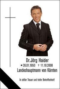 Gruppenavatar von Ich trauer um BZÖ Chef, Jörg Haider