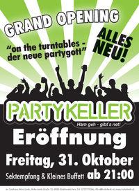 Partykeller Eröffnung