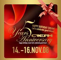 5 Years Cream Anniversary