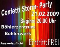 Confetti Storm Party@Böhlerzentrum-Böhlerwerk