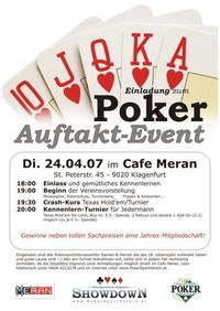 Poker-Auftakt-Event@Cafe Meran