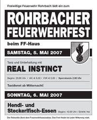 Rohrbacher Feuerwehrfest@Feuerwehrhaus Rohrbach