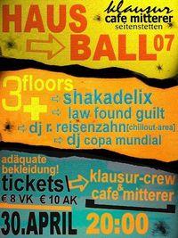 HausBall 07@Cafe Mitterer-Klausur