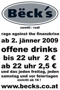 rage against the finanzkrise@Becks Bar
