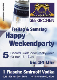 Happy Weekendparty@Disco Landschlössl