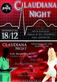 Claudiana Night im Juwel@Juwel Club