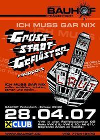 Grossstadtgeflüster live im Bauhof@Bauhof