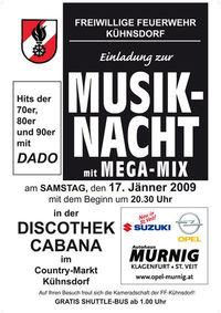Musiknacht der FF-Kühnsdorf@Cabana
