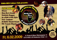 1st African Music And Song Contest @Porgy & Bess