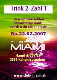 Trink 2 Zahl 1@Club-Miami