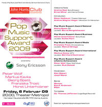 Pop Music Support Award 2009