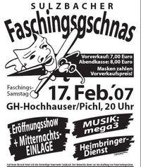 Sulzbacher Faschingsgschnas@Gasthaus Hochhauser