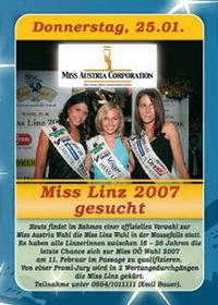 Miss Linz 2007 gesucht