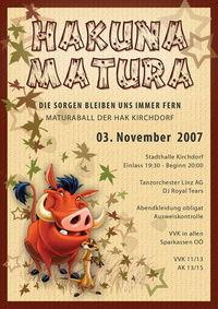 Hakuna Matura - HAK Ball Kirchdorf@Stadthalle Kirchdorf