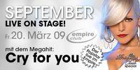 September - live on stage