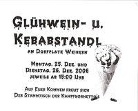 Glühweinstandl Weibern@Dorfplatz