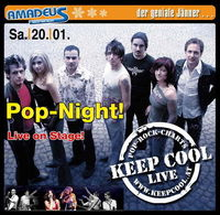 Pop-Night mit Keep Cool live on stage!