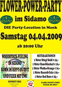 Flower-Power-Party im Sidamo@Cafe Sidamo Mank