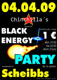 Black Energy 1€ Party@Chinchillas Bar - Lounge