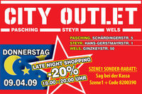 City Outlet Late Night Shopping Wels@City Outlet Wels