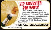 Vip Silvester Pre Party