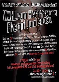 Wahl zur Happy-Nite Flyergirl Juni 2009