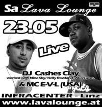 "Dj Cashes Clay & Mc E-V-L ""LIVE"""