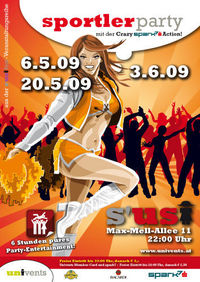 Sportler-Party mit der Crazy spark7 Action!@S'usi - das Lokal am Uni-Sportzentrum
