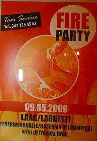 Fire Party@Feuerwehrhalle Laag