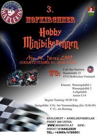 3. Hobby-Minibikerennen@Cafe Harlekin (Hofkirchen/Tr.)