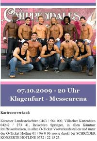 Chippendales - Tour 2009 - ONLY THE BEST@Messearena Klagenfurt