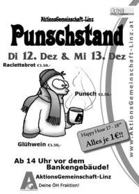 Punschstand Aktions-Gemeinschaft@Uni Linz
