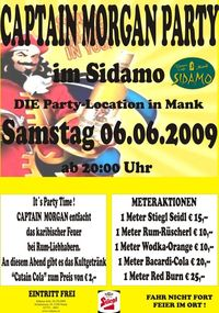Captain Morgan Party im Sidamo@Cafe Sidamo Mank