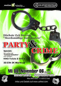 Party & Crime@Uni-Sportzentrum