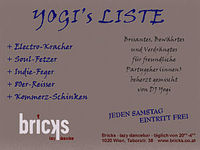 Yogi's Liste@Bricks - lazy dancebar