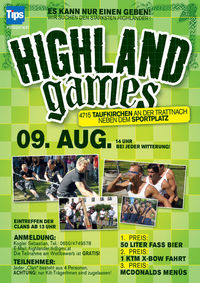 Highland games@Sportplatz