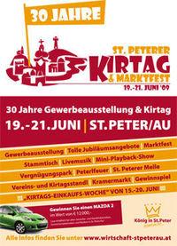 30 Jahre St.Peterer KIRTAG & Marktfest@Marktplatz St.Peter/Au